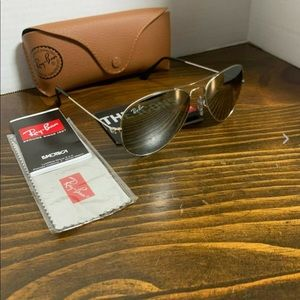 Ray-Ban Aviator RB3025 55mm Silver Mirror Lens